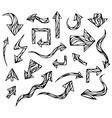 doodles arrows vector image