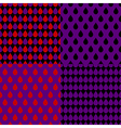 Set Red Purple Water Drops Background vector image