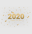 2020 happy new year golden text vector image