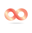 abstract infinity sign vector image
