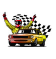 american 70s customized muscle car eps10 vector image vector image