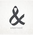 ampersand elegant ribbon symbol on grunge vector image vector image