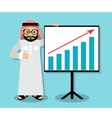 Arab business presentation vector image