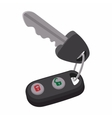 Auto key with remote control vector image