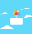 balon background vector image vector image