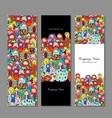 banners set matryoshka russian nesting dolls vector image vector image