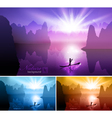 Beautiful nature background vector image vector image
