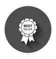 best seller ribbon icon medal in flat style with vector image vector image