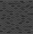 black brick wall abstract background vector image