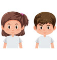 boy and girl character vector image vector image