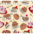 Cake seamless vector image vector image