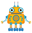 Cartoon cute robot vector image vector image