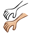 cartoon hand A set of contour and painted vector image vector image