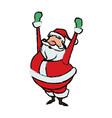 cartoon santa claus for your christmas celebration vector image vector image
