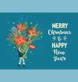 christmas and happy new year of vector image