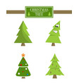 christmas tree sign board collection spruce icons vector image vector image