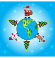 Christmas world eps10 vector image vector image