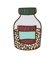 colorful half bottle with salt and pepper vector image vector image