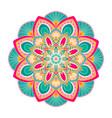colorful mandala ornament vector image