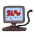 comic cartoon slow computer vector image vector image