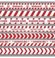 Danger tapes red and white collection vector image vector image