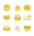 eco food organic bio products friendly vector image