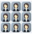 Emotions of Business Woman vector image vector image