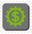 Financial Industry Rounded Square Button vector image