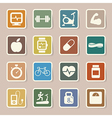 Fitness and Health icons EPS10 vector image vector image