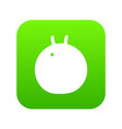 fitness ball icon green vector image