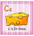 Flashcard letter C is for cheese vector image vector image