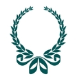 Foliate laurel wreath with a decorative ribbon vector image vector image