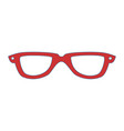 glasses fashion accesory vector image vector image