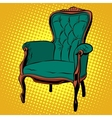 Green soft chair furniture armchair vector image