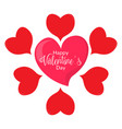 group of heart shapes valentine day vector image vector image
