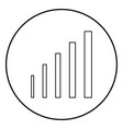 growth chart icon black color in circle round vector image vector image