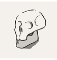 Hand Drawn cartoon Skull vector image