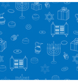 Happy Hanukkah Holiday Seamless Pattern Background vector image