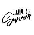 hello summer hand drawn lettering for your design vector image vector image