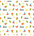 kids drawing pattern vector image vector image