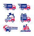 label icon shipping and delivery collection set vector image