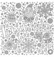 let it snow ink christmas card with text vector image vector image