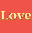 Lettering LOVE vector image vector image