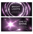 light effect of shine flash beams burst vector image vector image