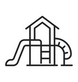 linear simple childish outdoor playground icon vector image vector image