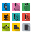 mobile accsessories flat vector image vector image