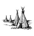native american wigwam vector image