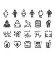 obesity icon set vector image vector image