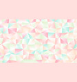 pastel bright light low poly backdrop design vector image vector image