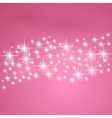 Pink fantasy background with stars vector | Price: 1 Credit (USD $1)